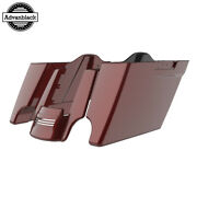 Stiletto Red Stretched Saddlebags Extended Bag Rear Fender Fits 14+ Harley