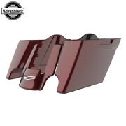 Mysterious Red Sunglo Stretched Extended Saddlebags Rear Fender Fits 14+ Harley