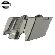 Industrial Gray Stretched Saddlebags Extended Bag Rear Fender Fits 14+ Harley