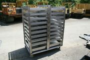 Pro Stainless Steel 19 Tray Bakery Drying Rack Cart Mesh Pans Industrial