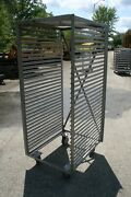 Pro Stainless Steel 33 Tray Bakery Drying Rack Cart Industrial Heavy Duty