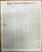 1768 Boston Colonial Newspaper Long Essay Against Townshend Acts N Amer Colonies