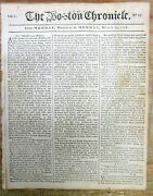 1768 Boston Colonial Newspaper Conflict Over Townshend Acts In American Colonies