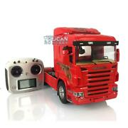 Hercules 1/14 Rc Scania 42 Tractor Truck Fiery Dragon Painted Model Radio Light