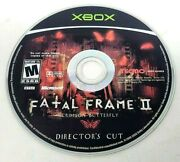 Fatal Frame 2 Crimson Butterfly Director's Cut Xbox Disc Only Tested And Working
