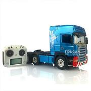 Hercules 1/14 Rc Scania Highline Diy Tractor Truck Painted Sound I6s Radio Light