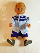 Halloween Prop Creepy Horror 1962 Mattel Tiny Chatty Brother Cut Hair With Shoes