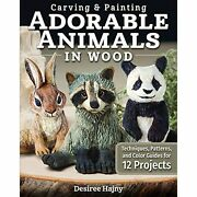 H3639 Carving And Painting Adorable Animals In Wood Techniques Patterns And