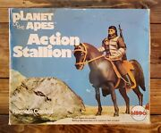 1974 'planet Of The Apes Original Mego Action Stallion Complete In The Box