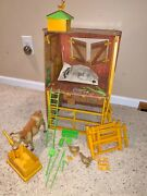 1976 Sunshine Family Farm Cow Tools Fence Chicken/eggs Almost Complete Set Vgc