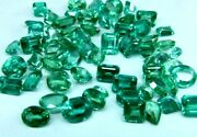 900 Ct 70 - 90 Pcs Natural Green Sapphire Certified Sparkling Gemstone Lot