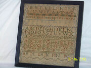 Antique Oct.11th C1834 Sampler By Matilda Anne Ray Numbers-letters-figures