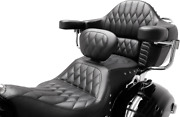 New 1-piece Heated Super Touring Seat With Driver Backrest By Mustang