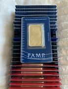 1 Oz. Pamp Suisse Lady Fortuna Gold Bar 999.9 Fine Gold In Sealed Assay Card