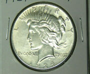 Au 1924-s Peace Silver Dollar About Uncirculated San Francisco Coin 72421