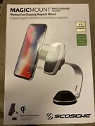 Magicmount™ Pro Charge - Qi Phone Mount For Desks By Scosche Apple Samsung Droid