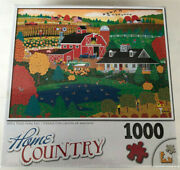 Home Country 1000 Pc Puzzle Apple Pond Farm Fall