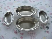 2 Vintage 10 1/2 Legion Utensils Stainless Steel And 2 8 18-8 Japan Serving Tray