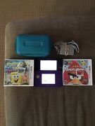 Nintendo 3ds Midnight Purple Console Ctr-001 Usa 2 Games Tested And Works