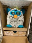 2012 Furby Raincloud Grey And Teal, New, Rare. Still Attached Inside The Box.