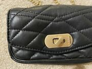 Zadig And Voltaire Black Skinny Love Clutch W. Tags Og 298+tax