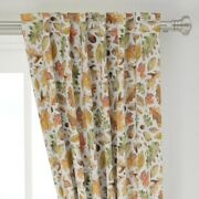 Autumn Halloween Fall Leaves Harvest 50 Wide Curtain Panel By Roostery