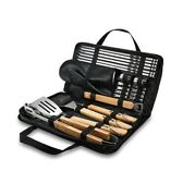 Bbq Tools Set Grill Skewers Tongs Spade Brush Glove Outdoor Barbecue Accessories