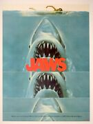 Jaws 1975 Rare Original Us Pre-censored Linen-backed Promo Poster 18x24 Nmint