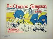 Toulouse-lautrec Cyclists - Lithography Original Signed 1900