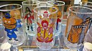 Mcdonalds Action Series Glasses Complete Set Of 6