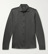 Tom Ford Charcoal Jersey Lightweight Stretchy Shirt Business Casual Luxury