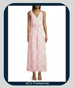 Nwt Womenand039s Vineyard Vines Canopy Geo Jumpsuit Geo Cara Cara Size Small