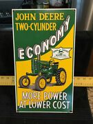 Vintage John Deere Two-cylinder Tractor Porcelain Enamel Sign 8andrdquox14andrdquo Andy Rooney