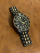 Men's Vintage Rare Tag Heuer 1000 Black And Gold Pvd Watch Ref 980.029b