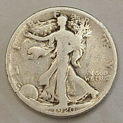 1920-p Walking Liberty 90 Silver Half Dollar 50 Cent Piece Coin Us Currency