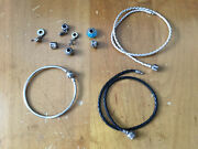 Large Lot Of 3 Sterling Silver .925 Ale Pandora Charm Bracelets With 7 Charms