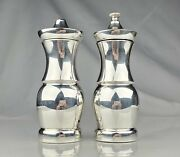 And Co. Sterling Silver Salt Shaker And Pepper Mill Set 6'' Art Deco Style
