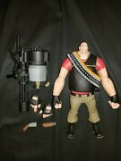 Neca Valve Team Fortress 2 The Heavy 7 Action Figure Red Team Tf2