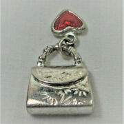 Sterling Silver Charm - Pocket Book With Heart