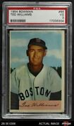 1954 Bowman 66 Ted Williams Ted Red Sox Psa 3 - Vg