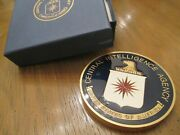 Cia Central Intelligence Agency 3 Medal Challenge Coin With Presentation Box