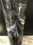 Starbucks 20 Oz. Recycled Glass Venti Cold Cup Tumbler Black Marble Waves Rare