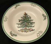 Spode Christmas Tree 11 3/4 Round Heavy Serving/pasta Bowl Green Band So Nice