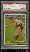 1957 Topps 271 Danny O'connell Braves Psa 6 - Ex/mt