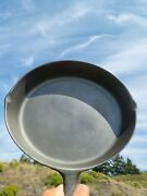 Old Extra Large 10 Skillet - Antique Usa Cast Iron Cookware Possibly A Bsr