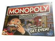 Monopoly For Sore Losers Hasbro 2020 Board Game Brand New Sealed