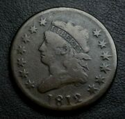 1812 Classic Head Large Cent Vg S-289 Nice Example