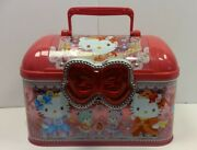 Hello Kitty Lunch Box Tin Metal Carrier Pink Collectible Sanrio Tin Box Jewelry