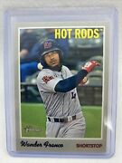 2019 Topps Heritage Minors 1 Wander Franco Rookie Card Tampa Bay Rays Hot Rods