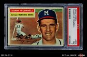 1956 Topps 272 Danny O'connell Braves Psa 7 - Nm